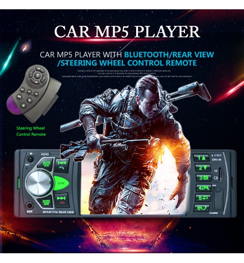4.1 inch car MP5 Bluetooth MP3 radio player support reversing image
