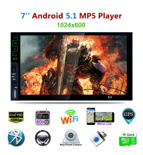 new car MP5 Android player standard 2Din HD universal dual core GPS bluetooth FM function