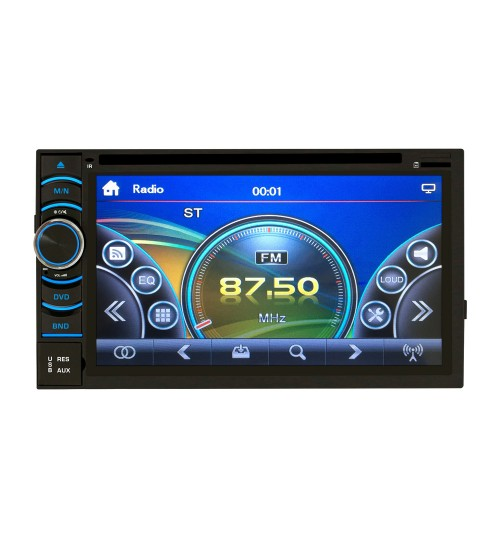 6.5-inch capacitive screen 2 DIN universal car DVD CD U disk Bluetooth all-in-one RK-6116