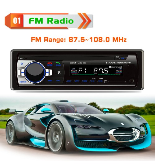 Car MP3 player audio FM radio U-disk USB SD Card player Bluetooth phone