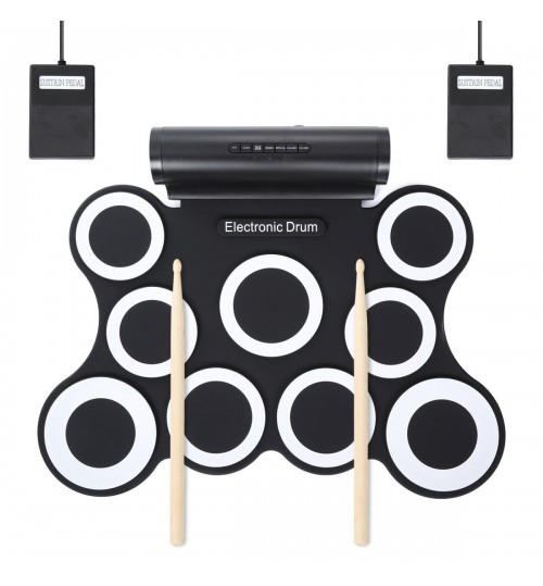 9 drums Convenient roll-up electronic drum set Percussion instruments