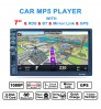 7 inch car navigation MP5 2 DIN auto Bluetooth MP5 player GPS navigation reversing image