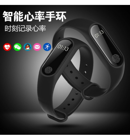 M2 Intelligent bracelet SMS call reminder Bluetooth sync pedometer sports wristband