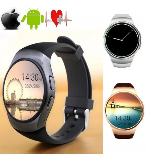 KW18 Bluetooth Smartphone Watch Plug-in Card Call Internet Heart Rate Smart Watch Phone