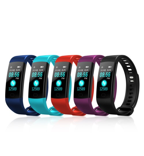 2018 Y5 Intelligent bracelet colorful screen heart rate blood pressure health monitoring bluetooth sports wristband