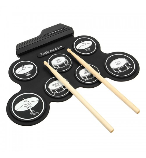 Silicone USB roll-up jazz drum with stereo pattern sound good for cultivate children's music interest