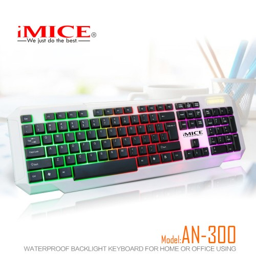 iMICE AN-300 office home backlight game dustproof waterproof keyboard