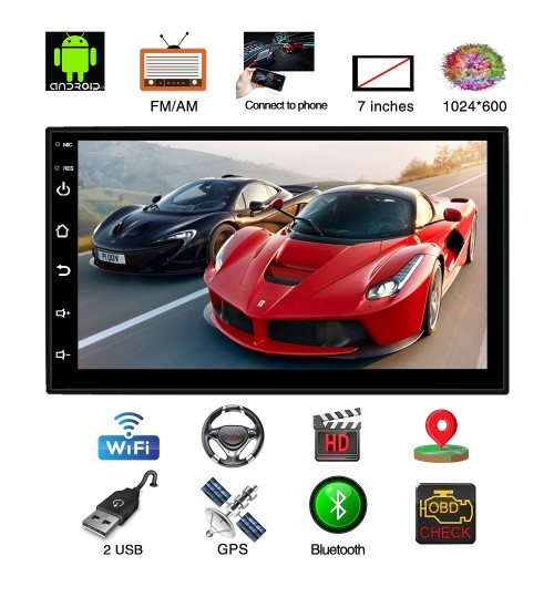 New quad-core 7-inch Android universal navigation car MP5 player