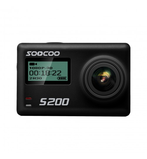 S200 HD waterproof 4K outdoor sports camera Dual screen intelligent voice control touch screen WiFi