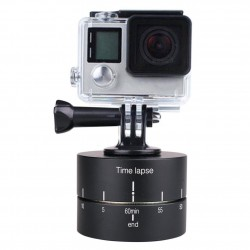 Panoramic timing 360 degree rotation PTZ for GoPro action camera photography time-lapse 60 120 minutes