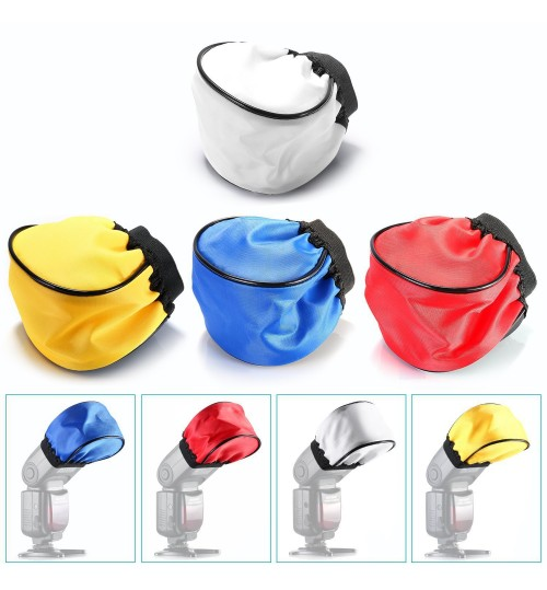 Top universal flashlight cover SLR camera small colorful cloth cover