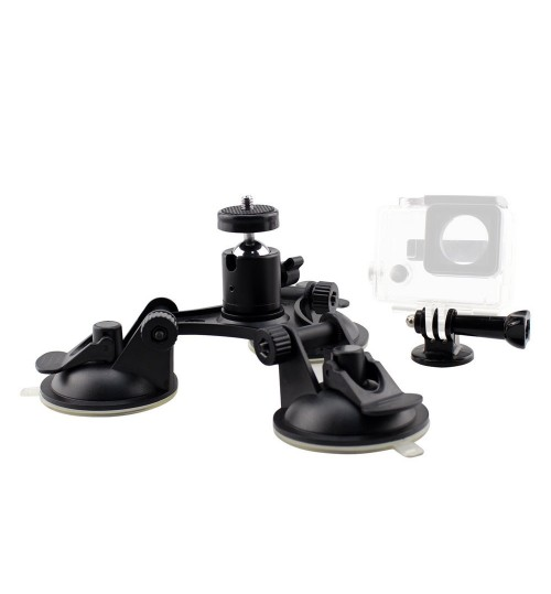 car camera suction cup sports camera low angle triangle bracket 7cm