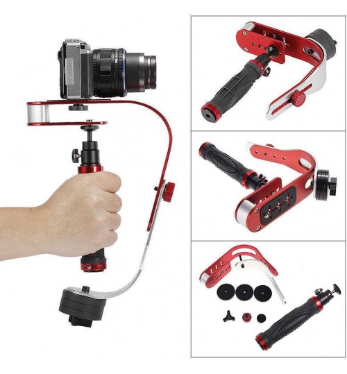 Black SLR Camera Bow style Handheld Stabilizer Mobile Phone Stabilizer