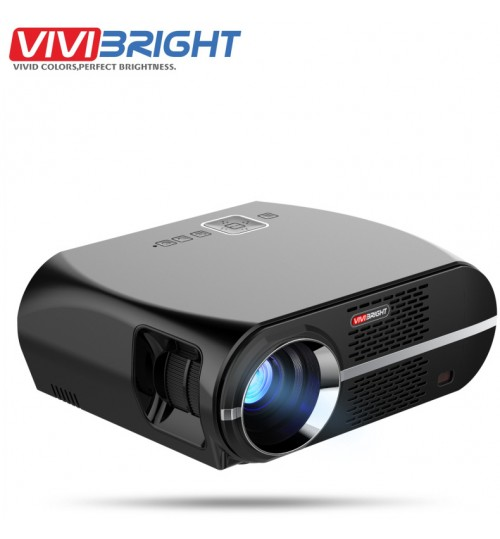 2018 new home projector GP100 home business portable projector supports 1080p projection