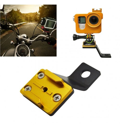 CNC aluminum rearview mirror bracket motorcycle mount base frame camera accessories