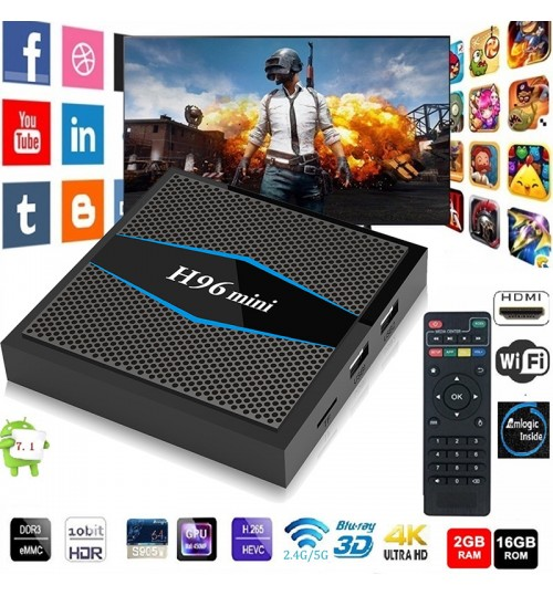 H96 Mini Android 7.1 TV Box S905W 4K HD Intelligent Network Set-top Box 2.4G 5G Wifi